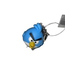 LED-es kulcstartó hanggal Kék madár