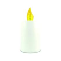 LED Mécses fehér - sárga láng - elemmel
